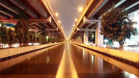 exceed water in Prapa canal in Bangkok Thailand before the flood photo