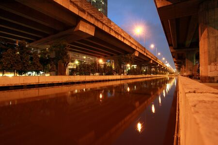 Prapa canal in Bangkok Thailand before the flood photo