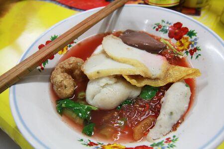 Thai noodle called yen ta four Stock Photo - 10986022