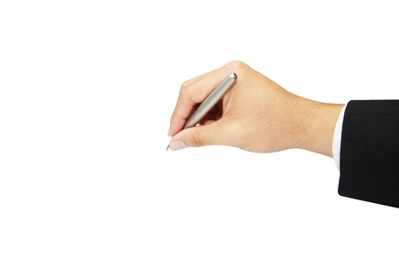 isolated business hand writing  photo
