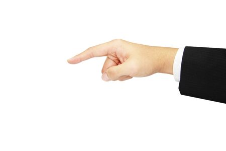isolated concept business hand pointing photo