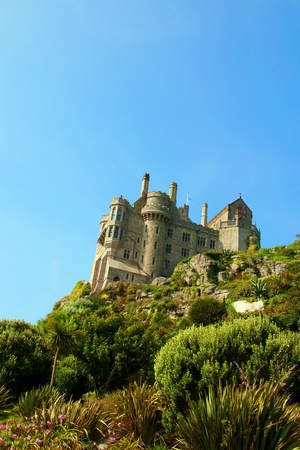 St. Michael Castle on the top of mountain , Cornwall,UK