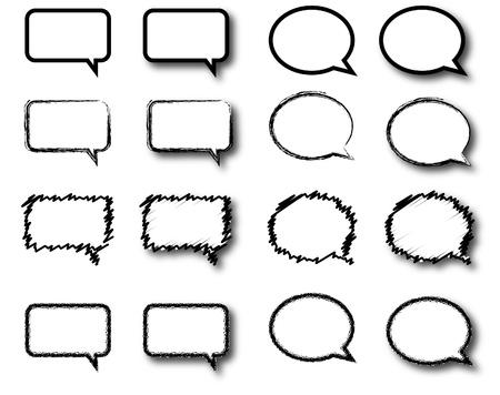 komentář: různé druhy komentáře krabic Ilustrace