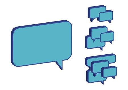 variety of blue chat box Vector