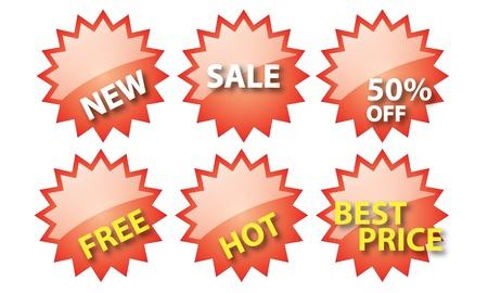 price cut: vendita tag isolato per l'uso