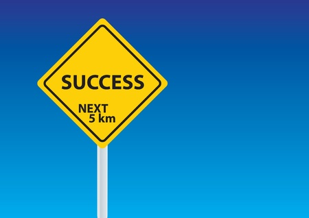 success sign under the blue sky Stock Vector - 11154699