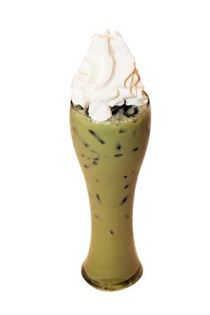 isolated ice japanese green tea photo