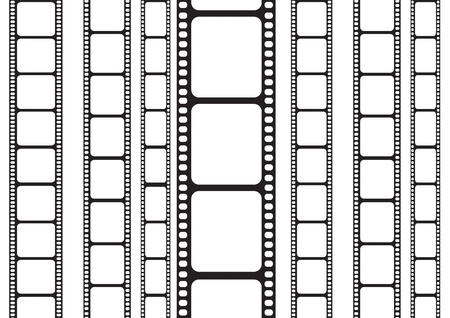 pelicula de cine: aislado 35 mm tira de película Vectores