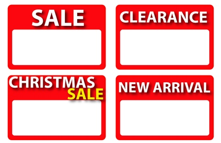 a christmas red sale tag Vector