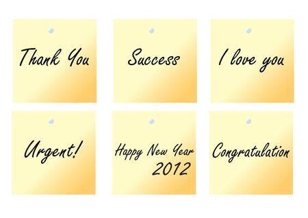 yellow note paper with text Vector