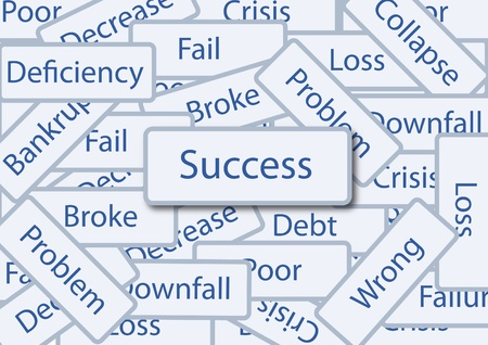 success box amoung failure words Stock Photo - 11872829