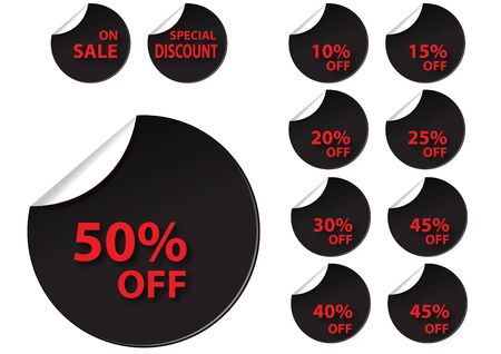 black circle sale tag for use Vector