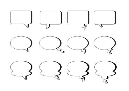various kind of  text bubble Çizim