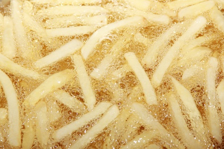 french fried in hot oil Stock Photo - 12460032