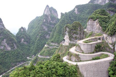 road to Tian Men Shan China 写真素材