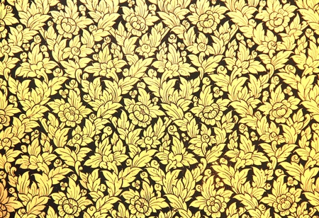 thai style golden texture from the temple photo