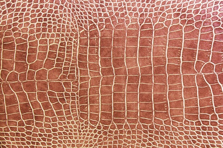 imitation leather: brown crocodile skin texture as a wallpaper