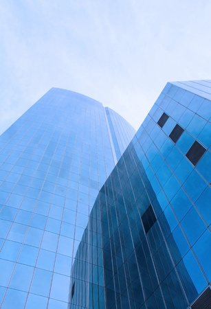 tall business building  in the business area