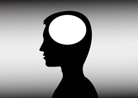 ideas in a mans head Vector