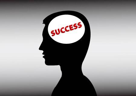 success in a man head Vector