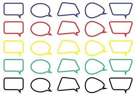 bande dessin�e bulle: color� bo�te de chat bulle version 2 Illustration