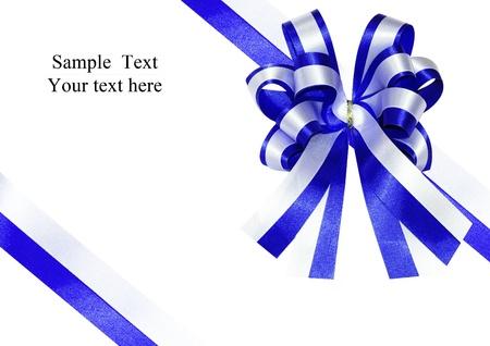 blue ribbon on a present box
