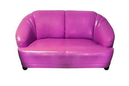 isolated modern style purple sofa photo
