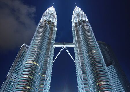 petronas building at inght time