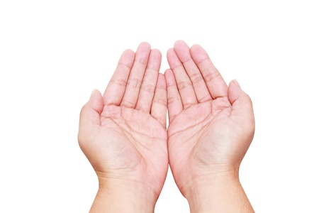 isolated hands in holding position 写真素材