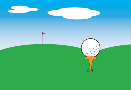 illustration of a golf ball on a tee illustration