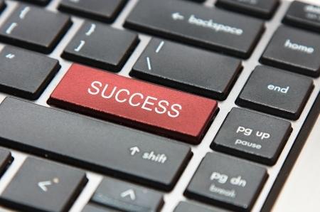 red success button on a keyboard Stock Photo - 14379479