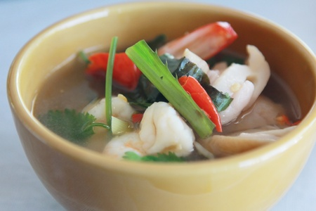 tomyumkung thai spicy shrimp soup photo