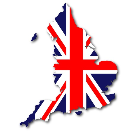 british map with UK flag inside Stock Photo - 14561944
