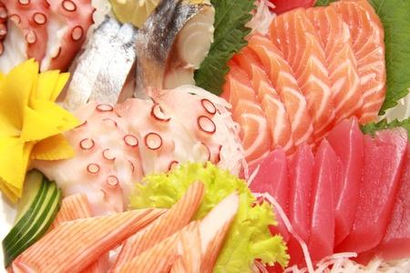 various kind of fresh raw sashimi