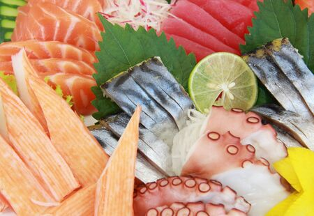 various kind of fresh sashimi photo