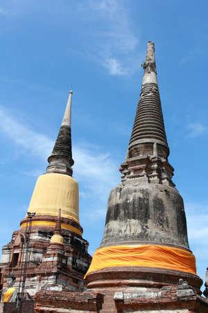 chaimongkol: stupa in wat yai chaimongkol n ayutthaya