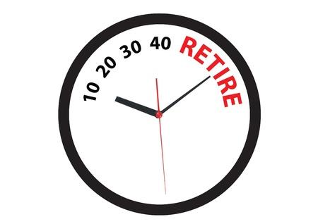 prendre sa retraite: compte � rebours pour le temps de la retraite anticip�e