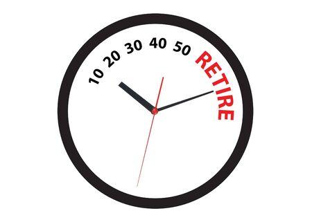 tomo: ticchettio dell'orologio di andare in pensione il tomo Archivio Fotografico