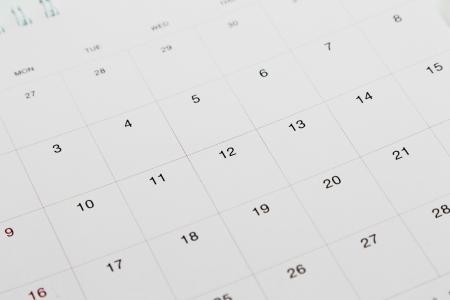 blue tone page of a calendar