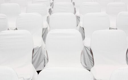 background of row of white seats Stock Photo - 15762094