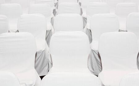 background of row of white seats Stock Photo - 15762094