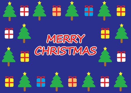 blue fantasy merry christmas card Stock Photo - 16579083
