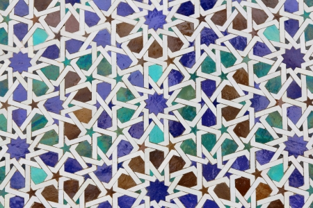 abstract background of collorful moroccan ceramic pattern Stock Photo