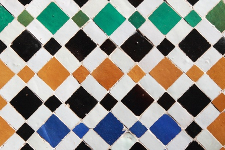 abstract background of moroccan ceramic pattern photo