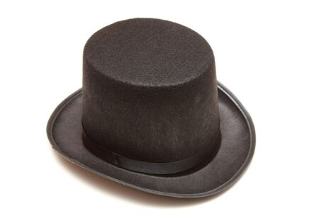 black tall hat in white background photo