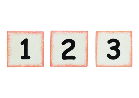 isolated cubic with the number 1 2 3 photo