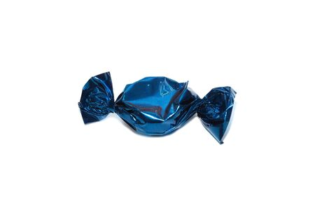 blue toffee in white background Stock Photo - 17532862