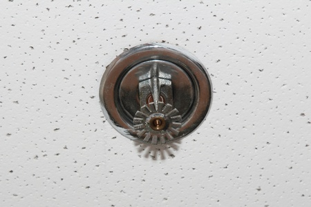 ceiling emergency heat sprinkler in the office building Stock Photo - 17689008