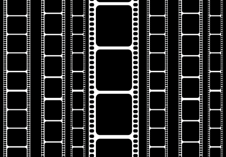 35 mm: isolated 35 mm film strip