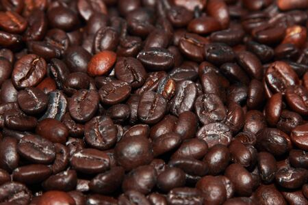 background of good quality roast coffe beans photo